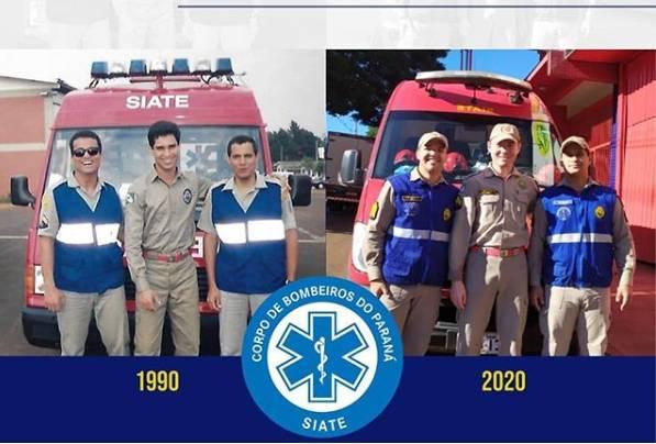 Atual equipe do Corpo de Bombeiros de Maringá ainda conta com soldados pioneiros da implementação do Siate