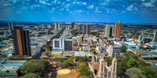 Foto aérea do Centro de Campo Mourão