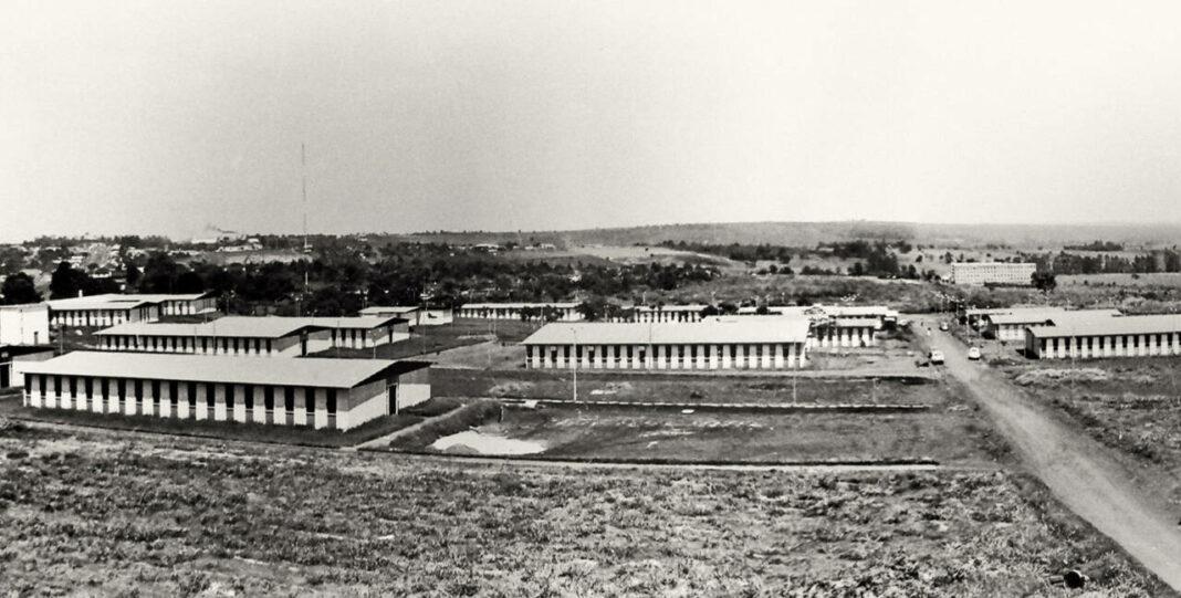 Campus da UEM em 1976