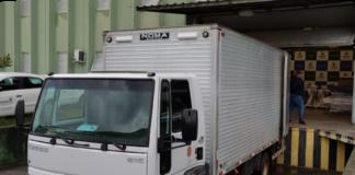 Caminhão da Secretaria de Saúde
