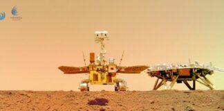 Robô chinês na superfície de Marte